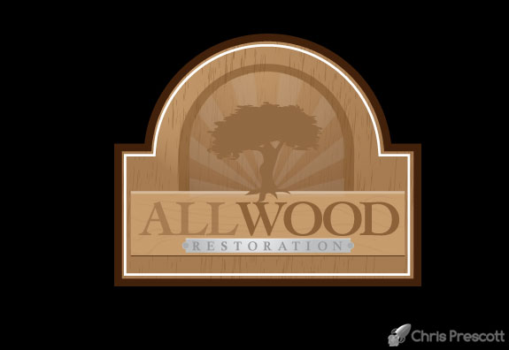 Woodworking logo design