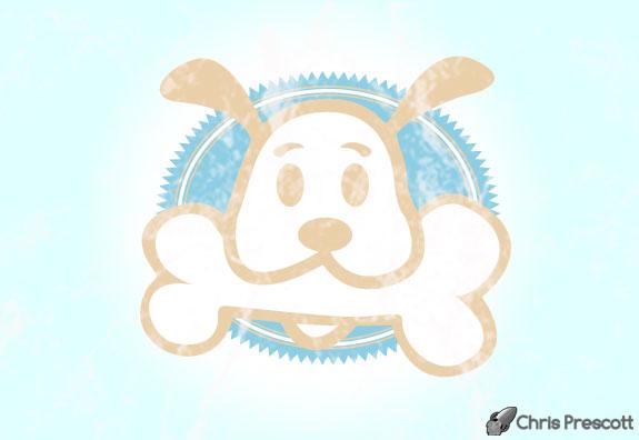 Dog bone logo