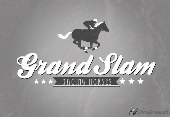Racing horses logo